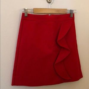 Red wool skirt. Size 00. NWT.